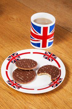 British Tea and Chocolate Biscuit break in office