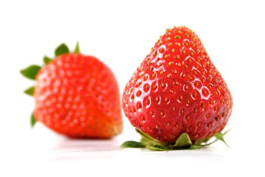 Close  up of Strawberry on white background
