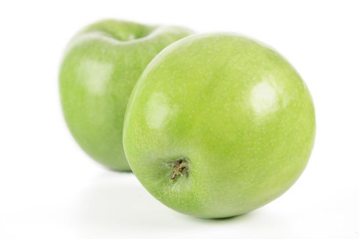 Studio shot of green apples