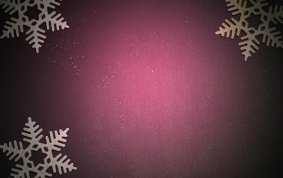 Luxury Christmas background with golden snowflakes shining black wood texture background.