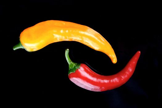 Chillis on a plate