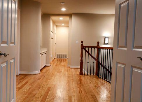 New red oak hardwood floors in home