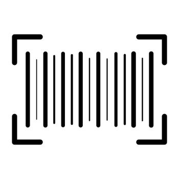 Barcode icon. supermarket product identification code. Vector symbol isolated on white.