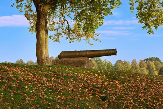 Old cannon on the ramparts