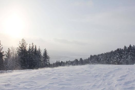 Ski resort Mratkino in winter view on slope