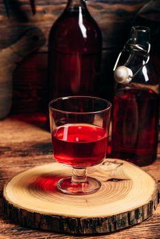 Homemade red currant liquor