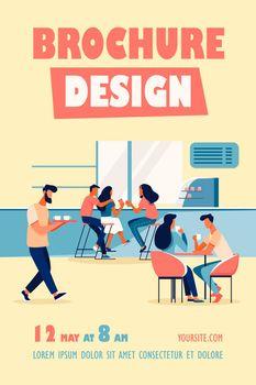 Coffee shop interior vector illustration