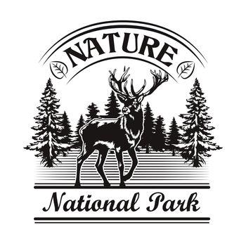 Nature and park symbol design