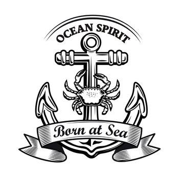 Ocean spirit emblem design