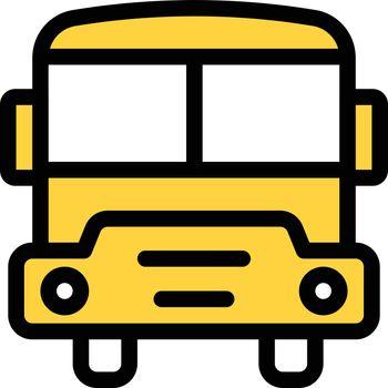 bus vector colour line icon