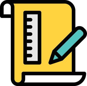 education vector colour line icon