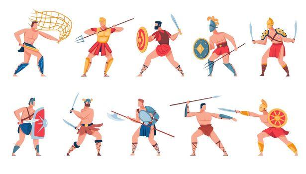 Ancient Roman soldiers set