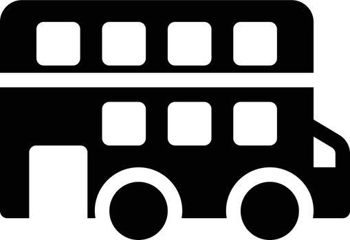 bus vector glyph flat icon