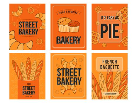 Baking flyers set