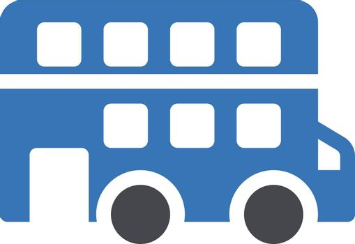 bus vector glyph colour icon