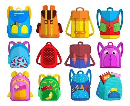 Bright childish backpacks collection