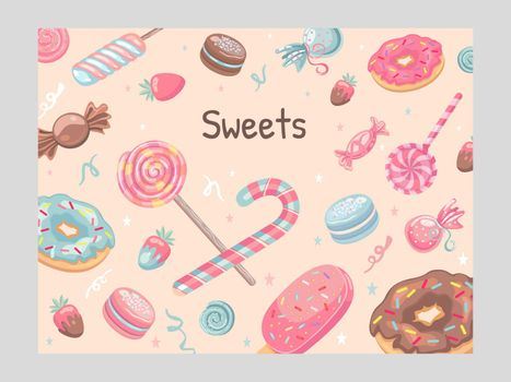 Cover design with sweets