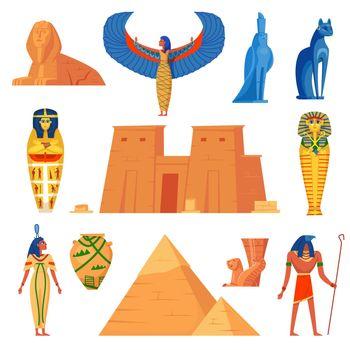 Egyptian history characters set
