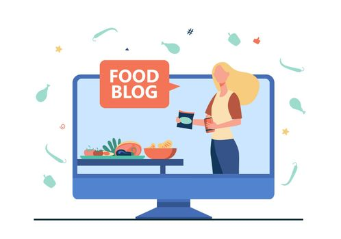 Food blogger giving workshop