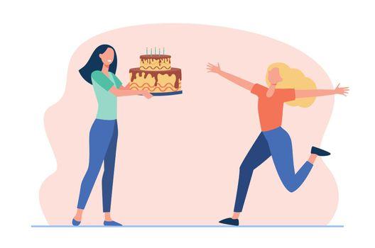 Girlfriends celebrating birthday