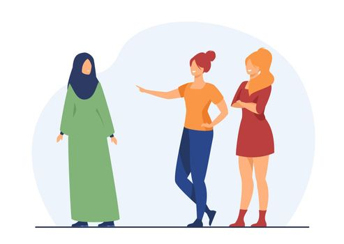 Girls bullying Muslim classmate