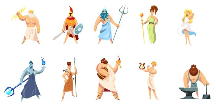 Greek mythology characters collection