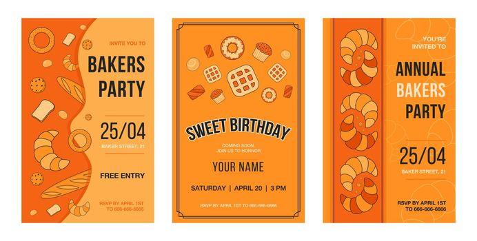 Invitation card set with baking
