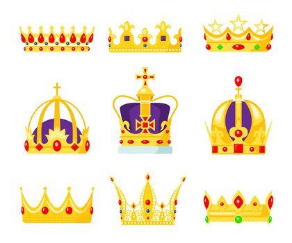 Monarch crown set