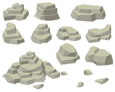 Stacks of flat rocks set