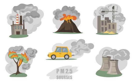 Toxic smokes set