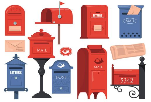 Traditional English letterboxes set
