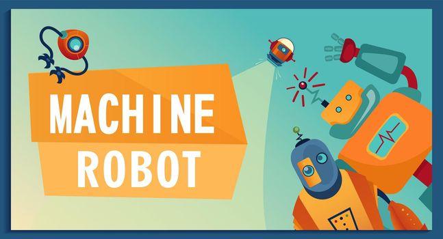 Cover design with cartoon robots