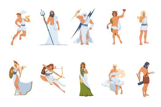 Greek gods and goddesses set