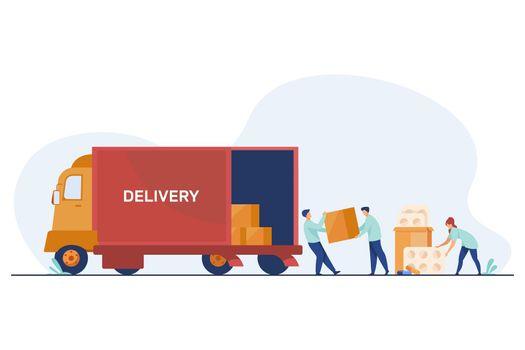 Logistic workers delivering meds
