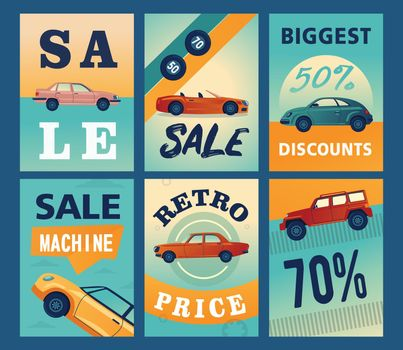 Sale brochure designs with different cars