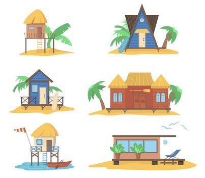 Summer houses at sea set