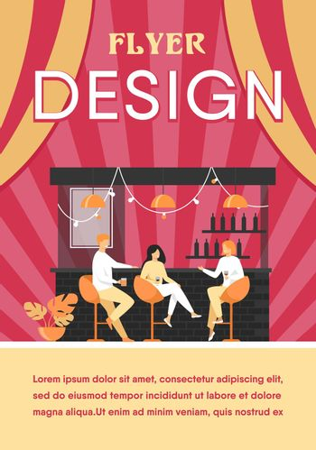 Leisure time in bar concept