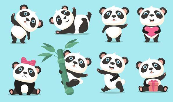 Adorable panda set