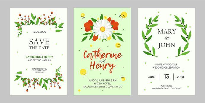 Creative wedding invitation designs with flowers