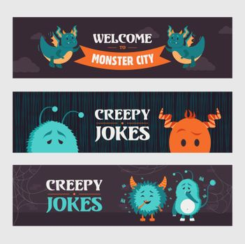 Creepy jokes banner designs for party