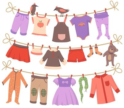 Drying baby clothes set