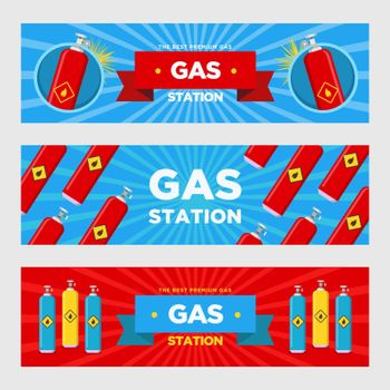Gas station banners set