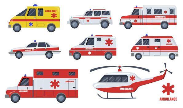 Medical care transport flat item set