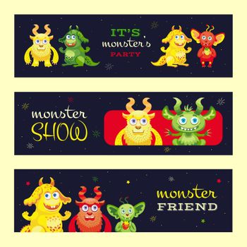 Monster show banners design for event