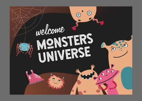 Monsters universe page cover design
