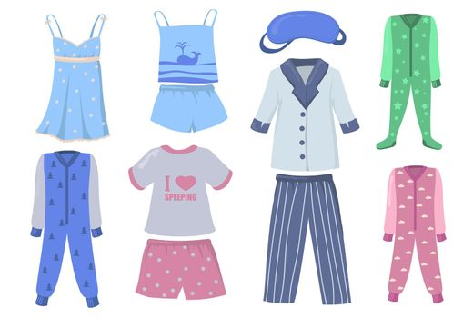 Pajamas for kids and adults set