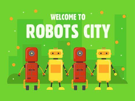 Robots city cover design