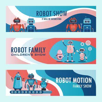 Robots show invitation banners set