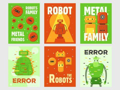 Robots flyers set