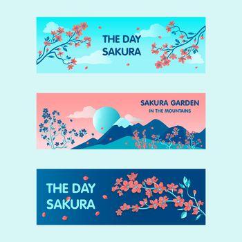 Sakura garden banners design for promotion